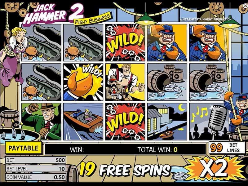 Геймплей игрового автомата Jack Hammer 2