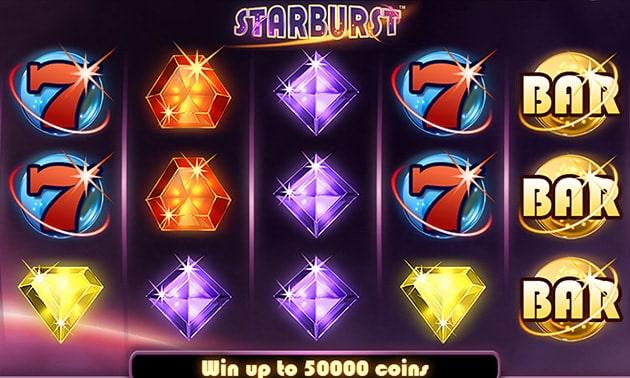Игровой автомат Starburst геймплей
