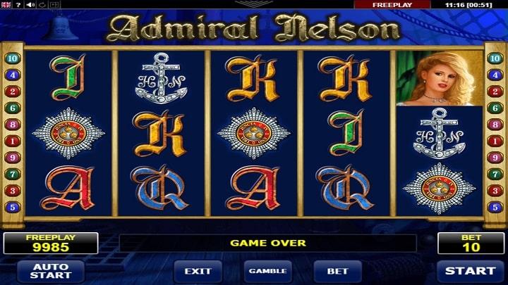 Игровой автомат Admiral Nelson от компании Amatic Industries