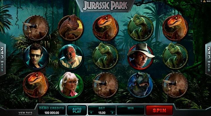 Игровой автомат JurassicPark