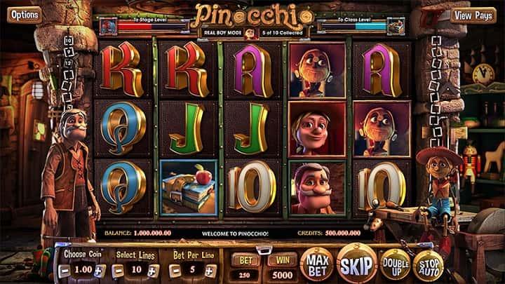 Pinocchio – 3D слот