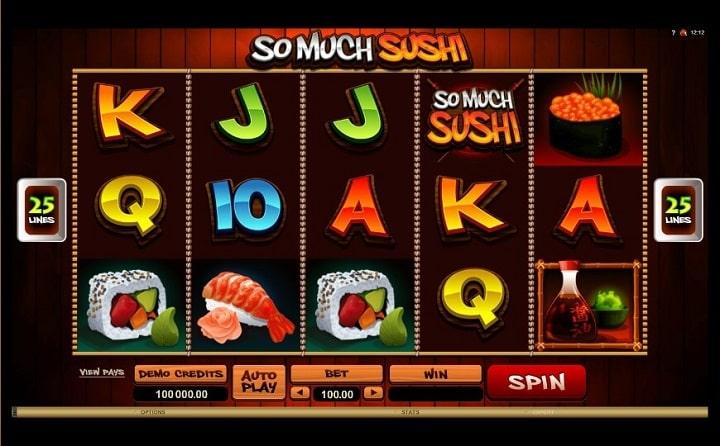Игровой автомат So Much Sushi