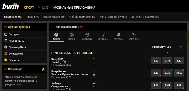 Официальный сайт Бвин в России