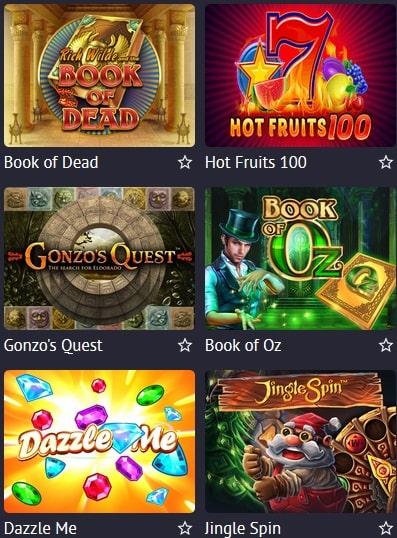 Игровые автоматы в онлайн казино Pin Up
