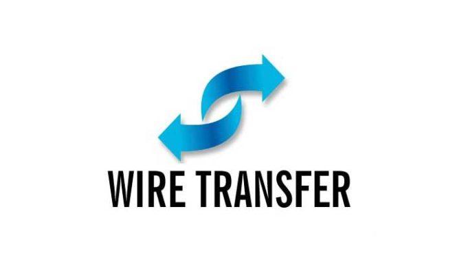 Переводы через Wire transfer